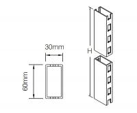 Стойка 60x30 мм с двухсторонней перфорацией