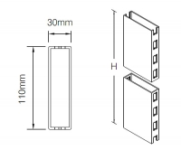 Стойка 110x30 мм с двухсторонней перфорацией shelving