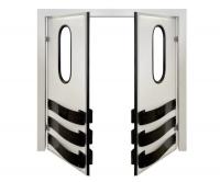 Дверь двустворчатая проходная (маятниковая) для разделения рабочих зон DFD