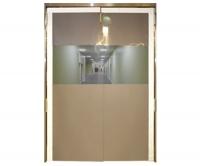 Дверь двустворчатая проходная из гибкого ПВХ для разделения рабочих зон PVCDD