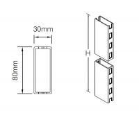 Стойка 80x30 мм с двухсторонней перфорацией