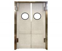 Дверь двустворчатая проходная из твёрдого пластика для разделения рабочих зон KPDD